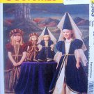 "2383 GIRLS & American Girl 18"" DOLL DRESS MEDIEVAL COSTUME PATTERN UNCUT"