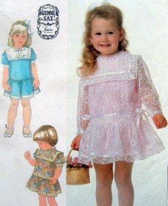 Adorable 7988 UNCUT Little Girls Drop Waist  Dress  Pattern -  Size 2