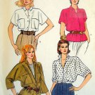 8584 Vintage Vogue Ladies Blouses Pattern sz 6-10 UNCUT