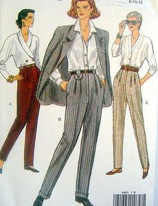 8461 Vogue Ladies Tapered Pants  Pattern sz 8-12 UNCUT