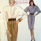 Vintage 7032 VOGUE Bat Wing Sleeve Dress Top & Skirt Pattern sz 14-18 UNCUT