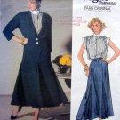 1588 Vogue CHLOE Jacket Skirt Blouse Pattern sz 8 UNCUT - 1985