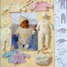 9830 Burda Baby Layette Pattern size 1-12month UNCUT