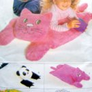 "4224 Panda Cat Alligator Pillow Covers Pattern sz 20X25"" UNCUT"