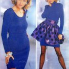 4637 Burda DRESS with OVERSKIRT Pattern sz 8-18  UNCUT