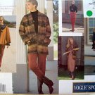 1213 Vogue Sport Wardrobe Jacket Poncho Dress Skirt Pants Pattern sz12-16 UNCUT