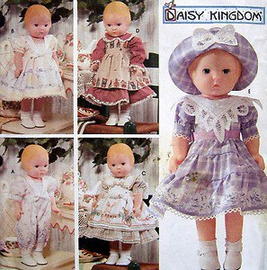 """7497 Daisy Kingdom Doll Clothes Pattern  for 17"""" Doll  UNCUT - 1997"""
