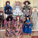 "7668 Folk Art Doll & Clothes Pattern 28""   UNCUT - 1997"