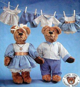 7473 Stuffed Bears & Clothes Pattern   UNCUT - 1991