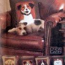 7441 Vogue DOG PILLOWS Lab Spaniel Terrier Shih Tzu Pattern UNCUT - 2001