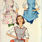 3702 Vintage BIBBED ONE YARD APRONS with Transfer Pattern UNCUT NOT A COPY