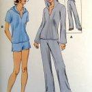 3155 Kwik Ladies Hooded Tops Pants Shorts Pattern sz XS-XL UNCUT