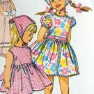 6474 Toddler Girls One-Piece Sundress Pattern  sz 2 - 1966