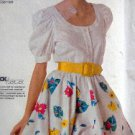 Swing Dance Blouse & Flared Skirt Outfit Pattern size 6-10   UNCUT - 1988
