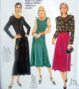3882 Burda Dress & Jacket  Pattern size10-20  UNCUT