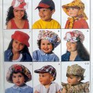 9047 KIDS INFANTS CHILDS SUMMER HATS 11 Designs sz S-L Pattern UNCUT - 1986