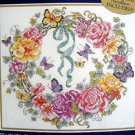 "Bucilla Stamped Cross Stitch Kit ~  Rose Ivy Heart Wreath ~ 15X15"" Baatz - 1999"