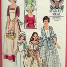 4260 Vtg DOLLY MADISON Reenactment Costume Pattern Adult 14 UNCUT