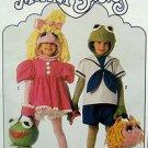 9346  MUPPET KERMIT MISS PIGGY Costume Pattern child sz 2-8 UNCUT