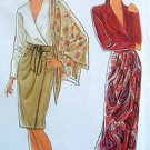 9825 Ladies Tapered  Wrap Skirt & Sash Pattern sz 10-20 - 1990 UNCUT