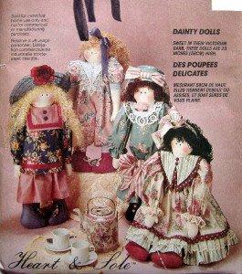 "6499 Dainty Victorian Dolls Pattern  UNCUT 23""  - 1993"