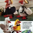 5986 GAGGLE OF GEESE & Clothes Pattern  UNCUT -