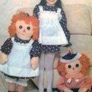 "4268 Raggedy Ann & Andy & Childs  Apron Pattern  UNCUT - 1974 -  36"""