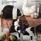 4908 BARNYARD BUDDIES Rooster Chicken Cow Pig Rabbit Pattern UNCUT - 1991