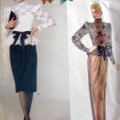 1189 Vogue KASPER Top & Dress  PATTERN sz 8 UNCUT  1985
