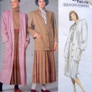 1775  Vogue PERRY ELLIS Coat Jacket  Pattern sz12 UNCUT 1986