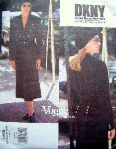 1258 Vogue DONNA KARAN Jacket Skirt Pattern sz 6-10 UNCUT 1993