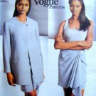 1440 Vogue DKNY Jacket & Wrap Skirt Pattern sz 8-12 UNCUT 1994