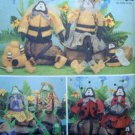 GARDEN FRIENDS  Frog Bee Ladybug Family Pattern  UNCUT