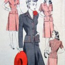 Vintage 1013 Hollywood Ladies Suit Dress Pattern  sz 12 UNPRINTED