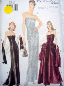 VOGUE 9947 Evening Gown Dress PATTERN sz 8-12 UNCUT 1998
