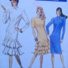7094 Vogue Drop Waist Ruffled Dress Pattern sz 6-10 UNCUT - 1987