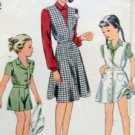 Vintage 4301 Little Girl Shorts Blouse Pattern sz 6