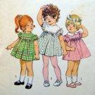 Vintage 9839 Toddler High Waist Dress Pattern sz 2 -1971