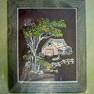 "Vintage Bucilla ~ SOLITUDE ~  Old Barn Picture or Wall Panel Crewel Kit 16""X20"""