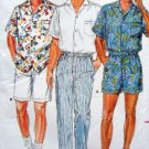 3777 Mens Casual Shirt Shorts Pants Pattern sz 38-40 UNCUT