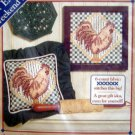 Dimensions Counted Cross Stitch Kit ~ ROOSTER in CHECKS ~  8X8- Tammy Barnhart
