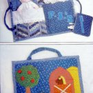 4950 Childs Travel Bag & Doll  Pattern 12x17  UNCUT -