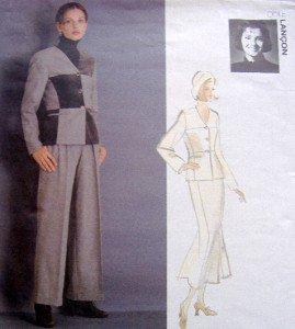 1429 Vogue ODILE LANCON Jacket Skirt  Pants Pattern sz 8-12 UNCUT - 1994