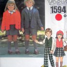 1594 Little Vogue Blazer Skirt Shorts Pants Pattern sz 4  UNCUT