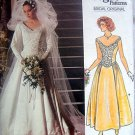 1677 Vogue Wedding Bridal Gown  Pattern sz 6 - 1986 UNCUT