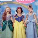 5832 Disney SNOW WHITE CINDERELLA ARIEL Costume Pattern sz 3-8 UNCUT