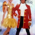 6376 TINKERBELL & HOOK Costume Pattern Size Adult XS-XL UNCUT