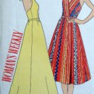 Vintage Woman's Weekly Halter Wrap Dress Pattern sz 12 Bust 34 UNCUT