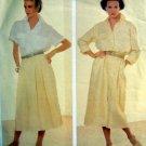1320 Vogue Dress Shirt Skirt CALVIN KLEIN Pattern size 12 UNCUT