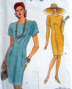8245 Vogue Tapered Dress Pattern size 6-10 UNCUT - 1992